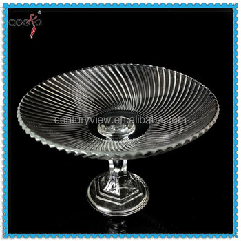 Wholesale Candy Dish Glass Clear Glass Plate with Stand