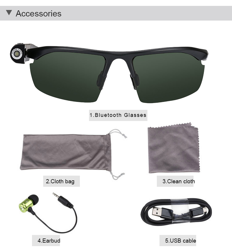 New Sports MP3 Bluetooth Calling Sunglasses with Emergency light