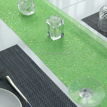 sequare green color underlay table cloth for banquet deco