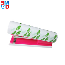 Office fancy cute new round designer flower printed decorative floral stapler