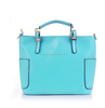 Hot selling top layer multicolor series ladies genuine leather handbags with mobile phone pocket