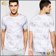 New style men Crew neck short sleeves All-over cloud printing t-shirts wholesale t shirts cheap t shirts in bulk plain loungwear