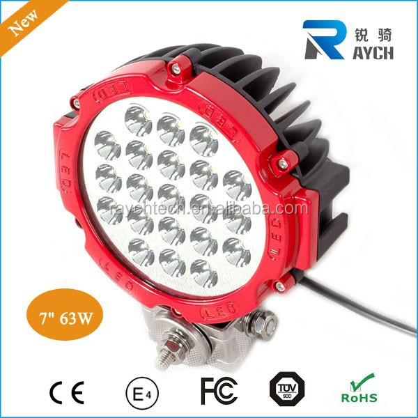 Wholesale 4x4 LED work light 63W offroad led headlights for trucks,7inch led work light