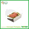 High quality brown kraft food paper foldable box lunch collapsible box
