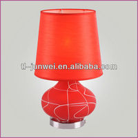 best design colored glass table light food heat lamp