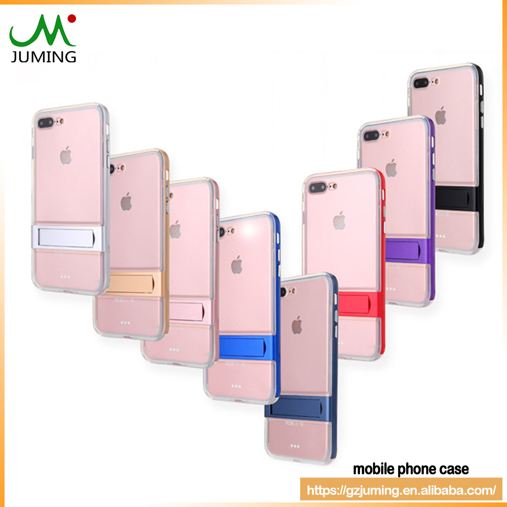 For iphone 7 Soft TPU and PC 2 in 1 Phone Cases With Bracket Holder Stand colorful Back Cover for iphone 6 plus