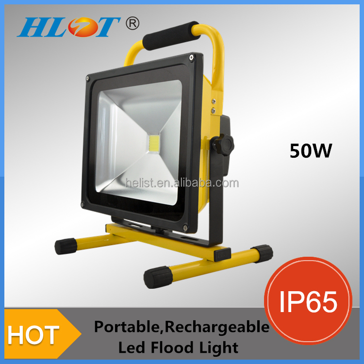 New coming portable battery power cob led flood light 50w
