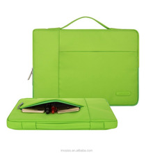 High Quality Laptop Briefcase Mosiso 13 inch Green Canvas Sleeve Briefcase for Macbook 13