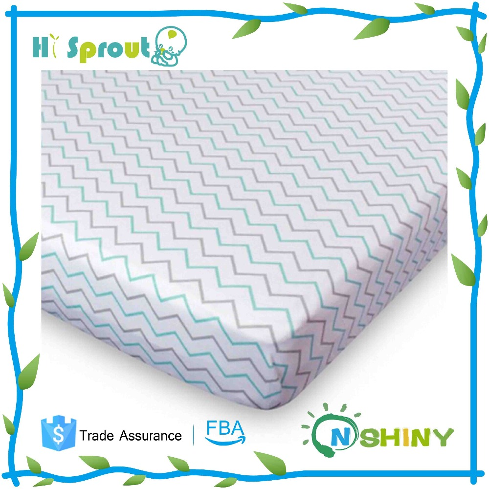 Latest Cotton Printed Baby Crib Sheet bed sheet