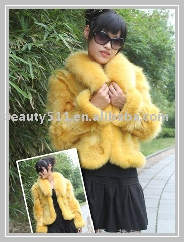 Luxurious High Quality Fur Garment/ Fur Coat FU09