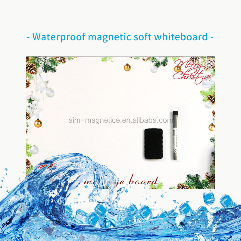 Waterproof magnetic dry erase white board calendar