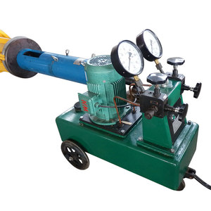 Prestressing concrete pole intelligent hydraulic tension machine of hollow jack