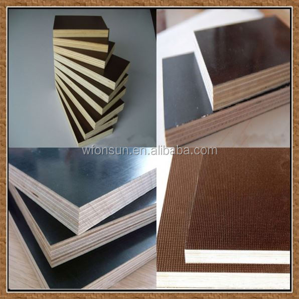 cheap best quality concrete imprint black film faced plywood for sale