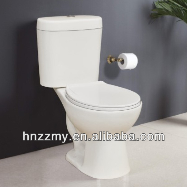 Siphonic Toilet ZZ-O812 Ceramic Two Piece Toilet water closet wc pan