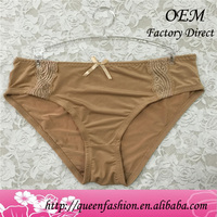 Manufacture Knitted organic cotton underwear best ladies panties latex rubber panties for women