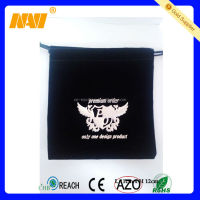 Nice design small velvet pouch with hot stamping