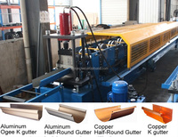 Seamless Copper Rain Gutter Roll Forming Machine/ Aluminum Gutter Making Machine