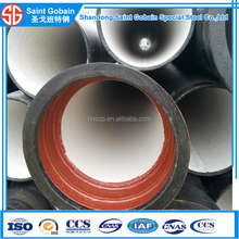 Ductile Iron Material and Round Shape ISO2531 socket and spigot ends ductile iron pipe