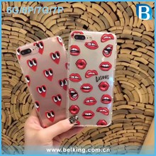 Word Print Air Shock Proof Cell Phone Case for iPhone 7 Case TPU , for iPhone 6 Case Sexy Lips