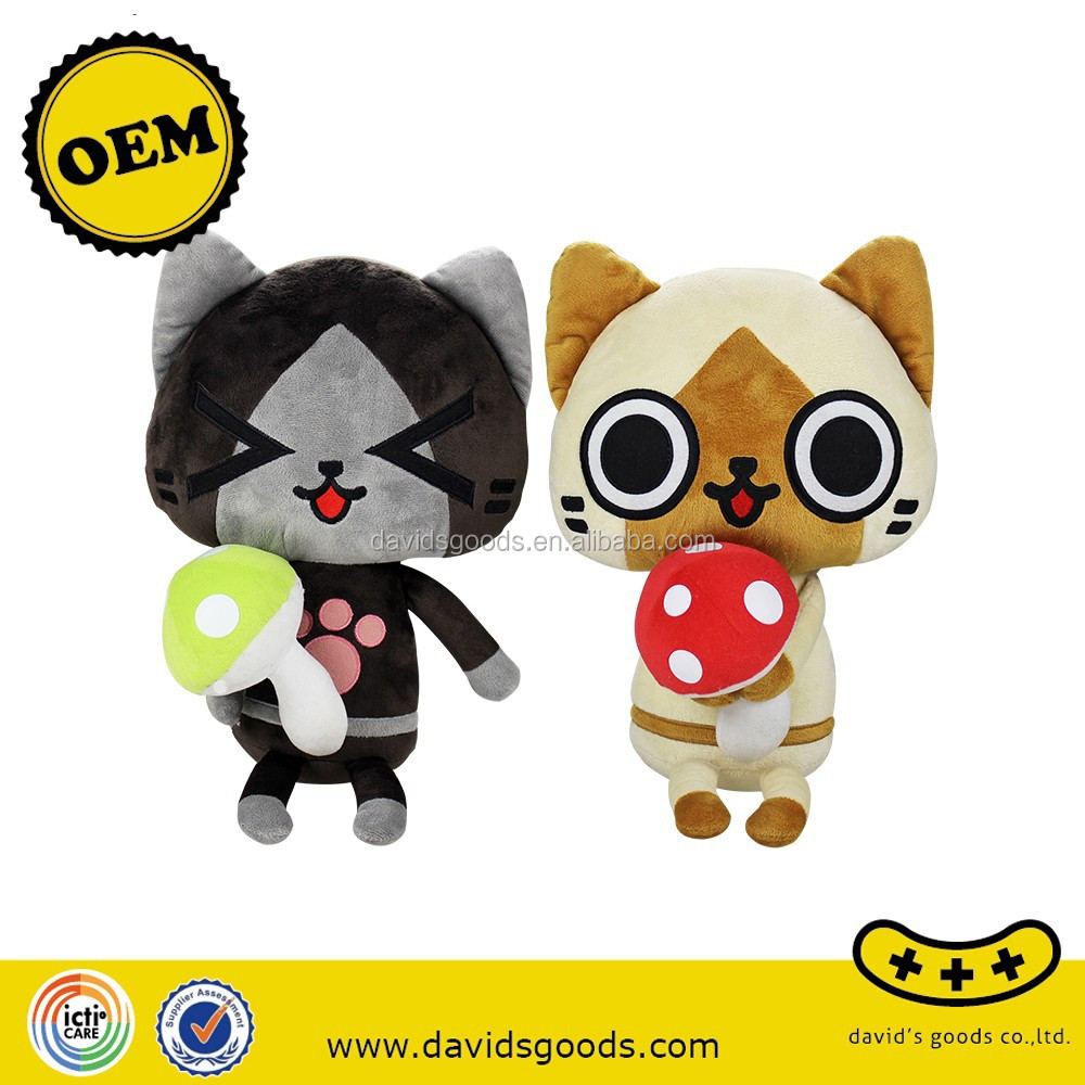 Organic cotton baby cat toys nature lamb stuffed toys 3C certification product