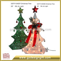 with topper star white wire lighted christmas trees