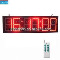 Alibaba wholesale hot sale and low price GPS Control red digital led wall clock