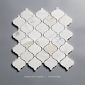 Arabesque Calacatta gold marble mosaic bathroom wall tile