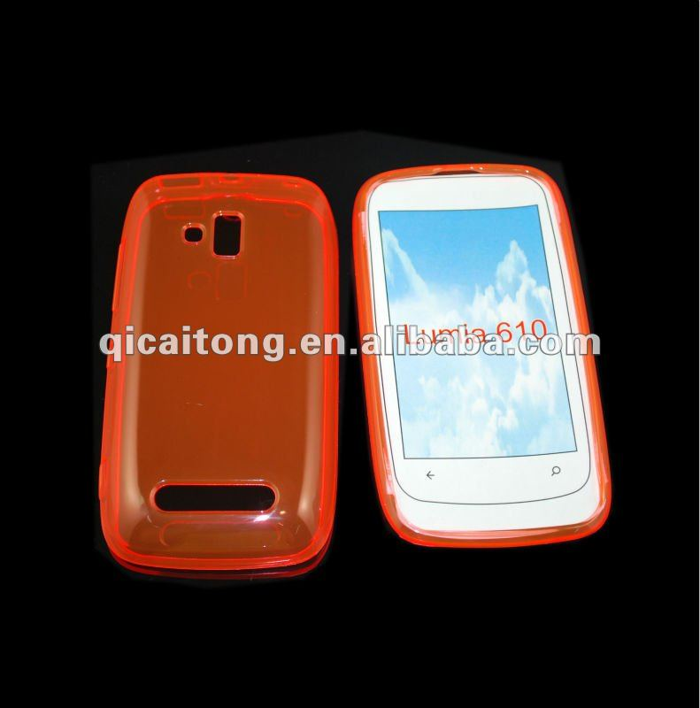 cellphone tpu case without texture for Nokia Lumia 610