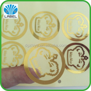 2014 latest 100% direct manufacture customized eco-friendly gold stamping label