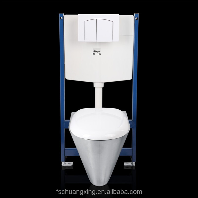 special design Bathroom New Product China Factory Sanitary Ware Two Piece wall hung Toilet with inside bracket