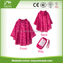 Promotional polyester Raincoat Rain Poncho For Wholesale
