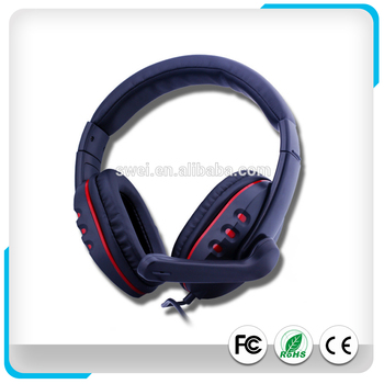 High Quality Wired Gaming Headset W/ In-line Volume Control & Boom Mic For PC/Laptop/Tablet/Mobilephones--2X 3.5mm MIni Jack