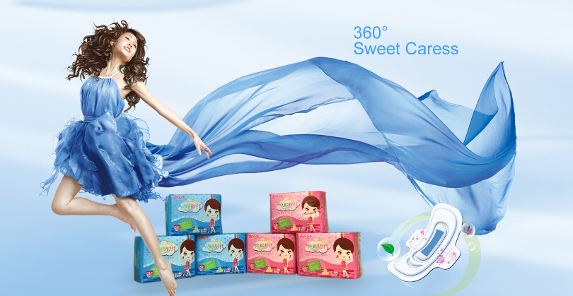 Competitive Price Mesh Cover Sanitary Napkin with Wings