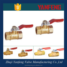 Red Handle Brass Double Internal Threaded Ball Valve Price