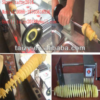 Stainless steel manual Tornado Potato Chips Twister machine/spiral potato chips cutter with low price 0086-18703616536
