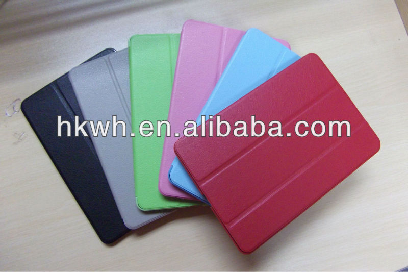 Hot Heat Slim Smart Flip Leather PU Case with PC Cover for ipad mini2/3