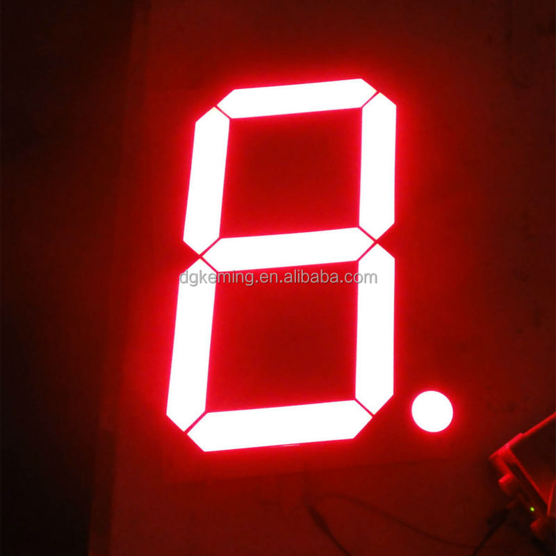 Assembled segments outdoor large led 20 inch 7 segment led display