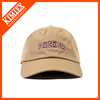100% cotton low profile and unstructured baseball cap with embroidery wording