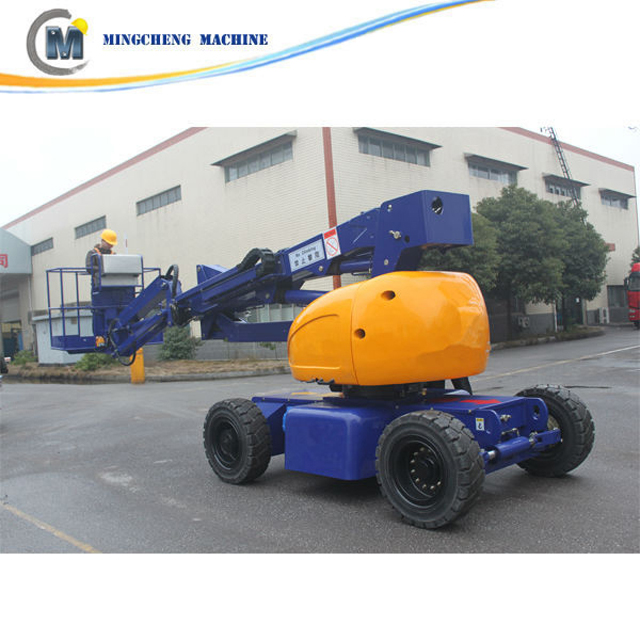 Supply 8m-16m self propelled articulated boom lift/ telescopic aerial work platform