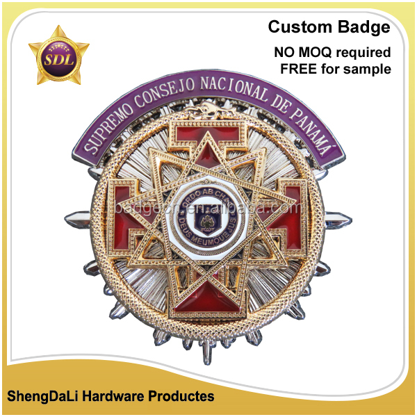 casting gold & silver high infill promotion Religion emblem pin badge