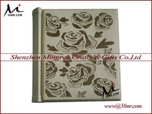 Chinese High Quality Latest Design Embossed Genuine Real Leather Wedding Photo Picture Album Cover Albums Supplier