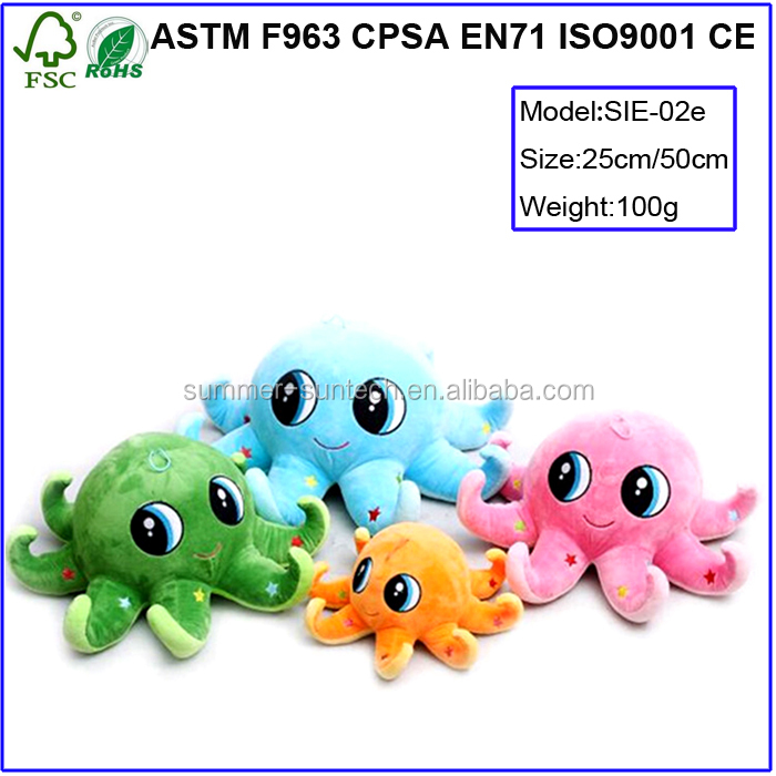 Fashion plush animal toy with magnet custom cheap stuffed animal plush magnet octopus doll