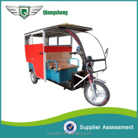 battery drive electric pedicab rickshaw with closed body