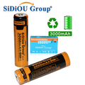 3.7V 3000mAh Batery 18650 Rechargeable Battery For Led Light (A Set of 2 Pieces)