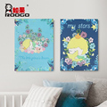 ROOGO wholesale resin new design indoor decor art craft rectangle little prince woodblock wall hanging for kid gift