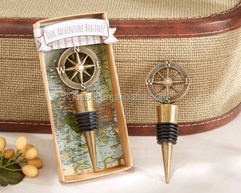 Our Adventure Begins Compass Bottle Stopper Wedding souvenirs