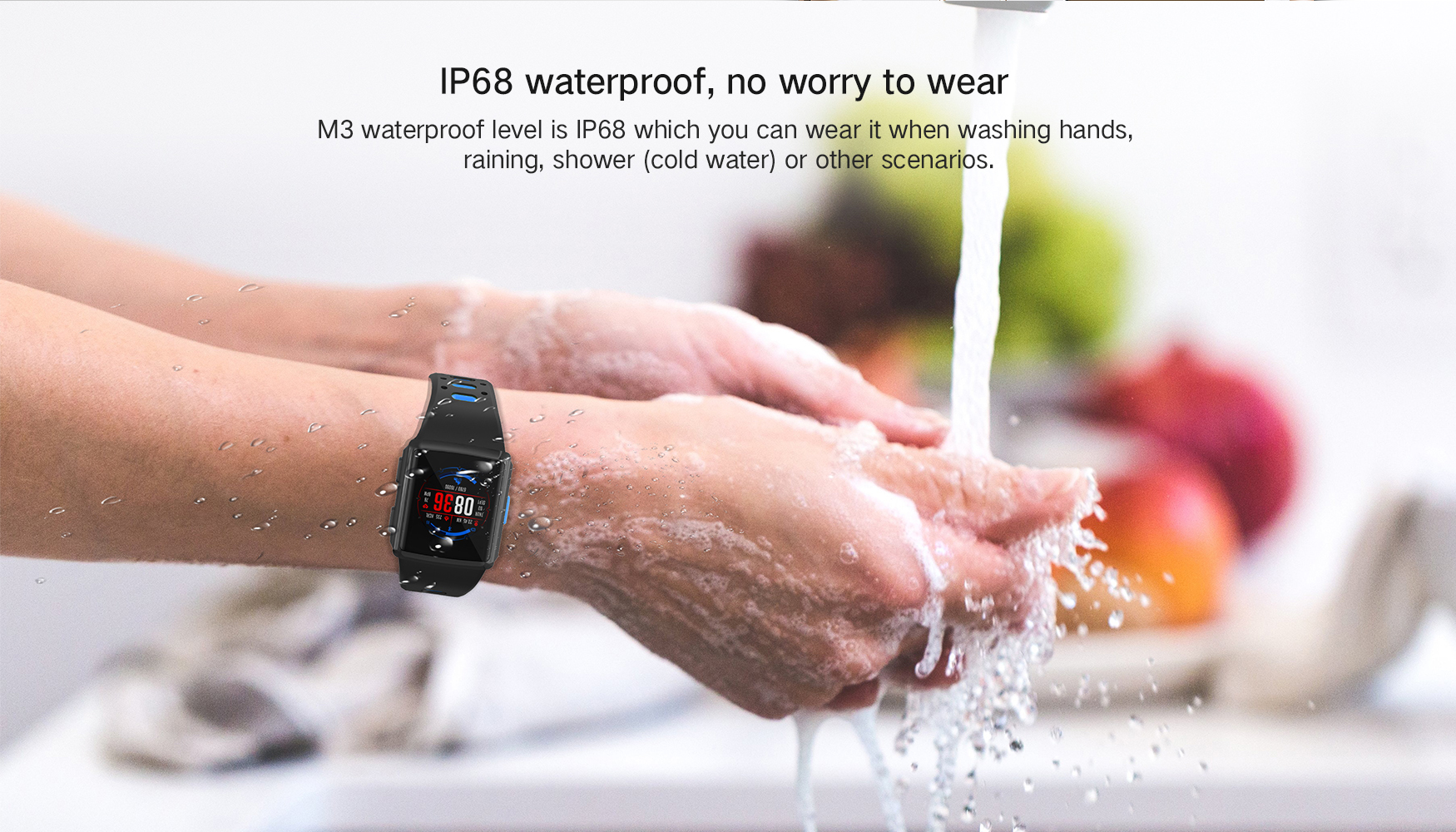 2019 smart watch with activity tracking IP68 waterproof music control and heart rate monitor
