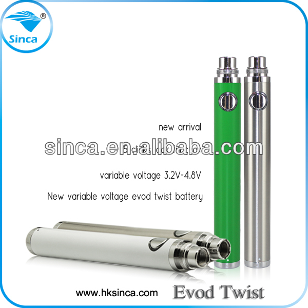 Sinca Create 2014 china novelty electronic cigarette China supplier new product 650mah evod twist evod twist battery