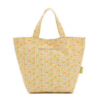 Japanese style cute mini flower handle shopping lunch bag, waterproof oxford tote snap closure shopping bag