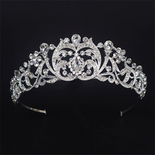 Classic Baroque Crystal Headband Customized Rhinestone wedding bridal hair accessories